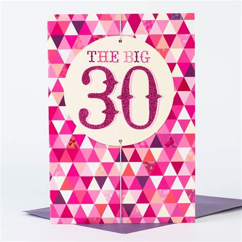 Birthday Card For Big 30th Birthday Card Big Pink 30 Only 99p