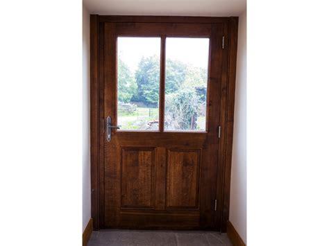 Half Glazed Exterior Doors Large Oak Gunstock Half Glazed Insulated Exterior Door