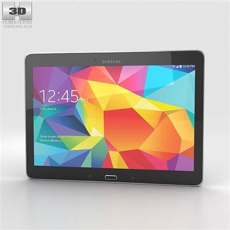 Second Samsung Galaxy Tab 4 10 Inch samsung galaxy tab 4 10 1 inch lte black 3d model hum3d