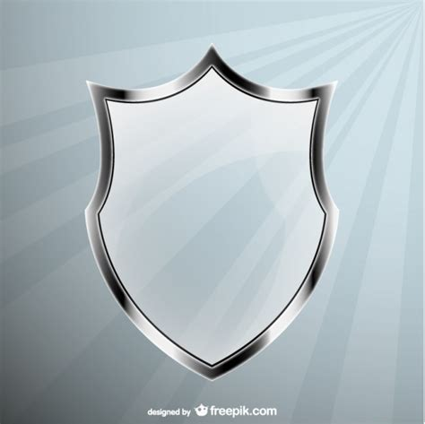 shield psd template glass shield vector vector free