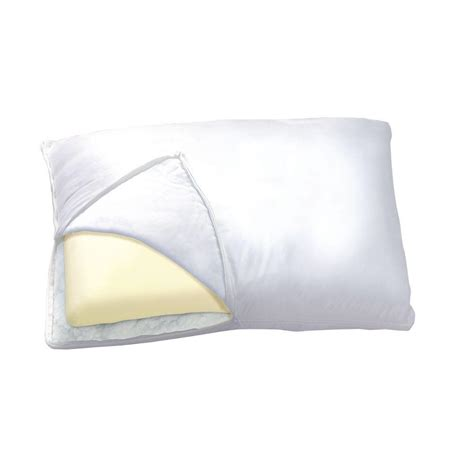 sleep innovations reversible 2 in 1 bed pillow sleep innovations memory foam fiber 2 in 1 reversible