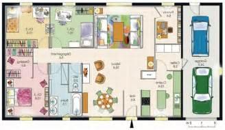 plan de 4 chambres plain pied modle de plan de