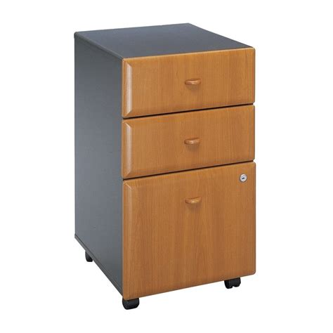 Drawers Lowes by Shop Bush Business Furniture Cherry Slate 3 Drawer