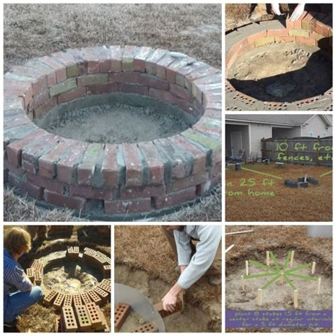 how to build a brick pit how to build a sturdy diy brick pit how to