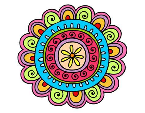 imagenes de mandalas faciles pintados dibujo de mandala alegre pintado por indianaj en dibujos
