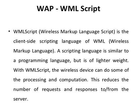 wap wml tutorial pdf wireless application protocol ppt