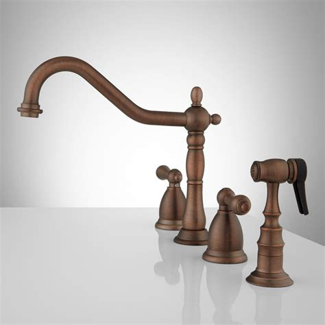 helena widespread kitchen faucet with side spray kitchen
