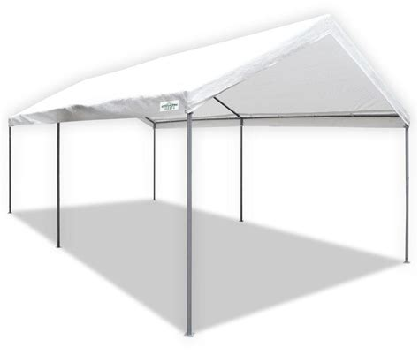 amazon awnings amazon com caravan canopy 10 x 20 feet domain carport white replacement canopy