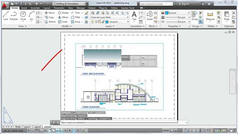 autocad  tutorial   plot  drawing layout youtube