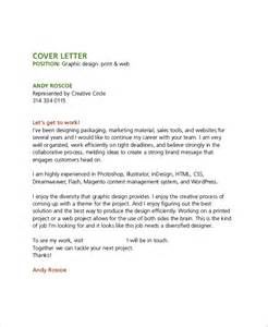 design cover letter sle graphic design cover letter 8 exles in word pdf