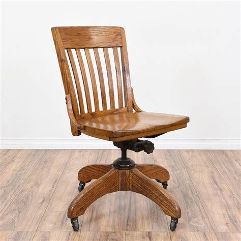 rolling desk chair rolling vintage oak swivel desk chair traditional chairs