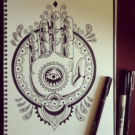 hand of hamsa by ni5nash on deviantart