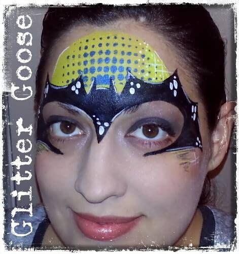 batman glitter tattoo 204 best images about face paint batman on pinterest
