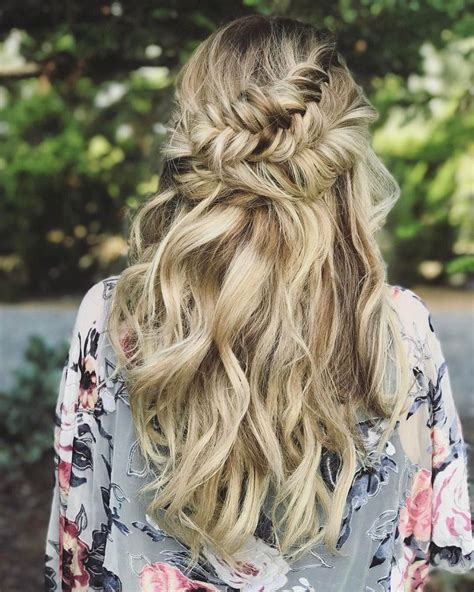 Wedding Hair Half Up Half Curls by Beautiful Half Half Up Braided Hairstyle With Curls