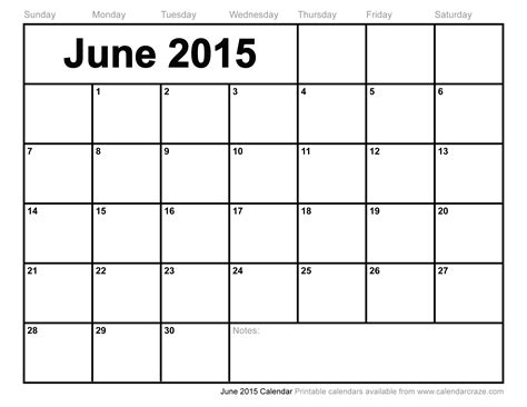 free printable planner june 2015 8 best images of printable june 2015 calendar march 2015