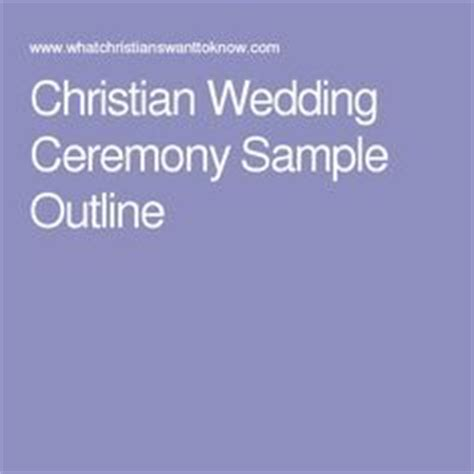 christian wedding ceremony template oltre 1000 idee su matrimoni cristiani su