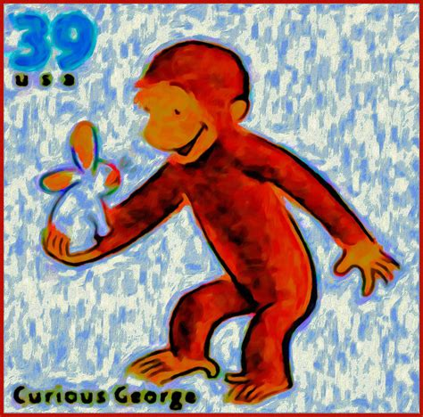 painting curious george curious george painting by lanjee chee