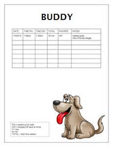 free dog walking log templates flyers scoo