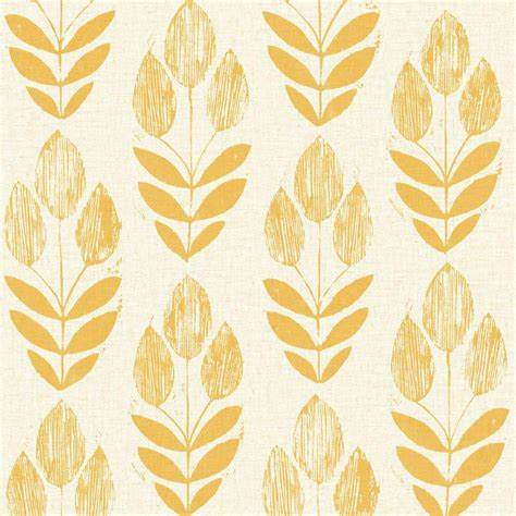 design house skyline yellow motif wallpaper beacon house scandinavian yellow block print tulip