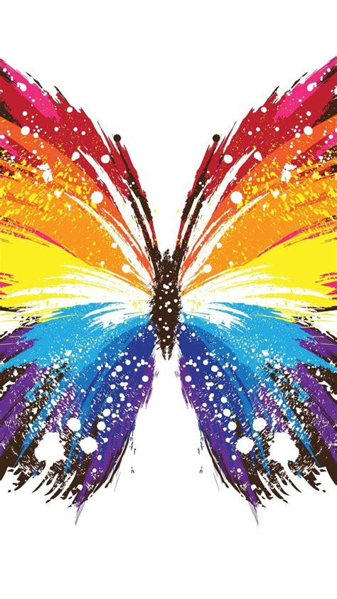 Butterfly P butterfly abstract colorful rainbow colors