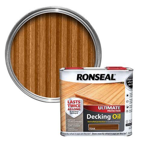 ronseal ultimate teak decking oil  departments diy