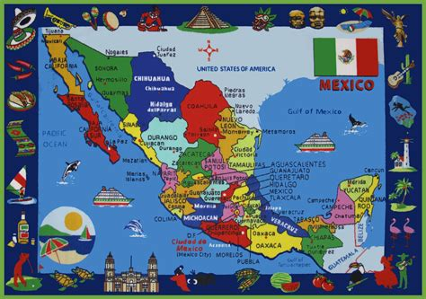 mexico in the map free coloring free printable map of mexico