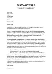cover letter exles for supervisor position management cv template purchase