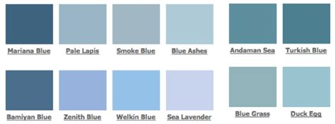 shades blue paint color palette homes alternative 55860
