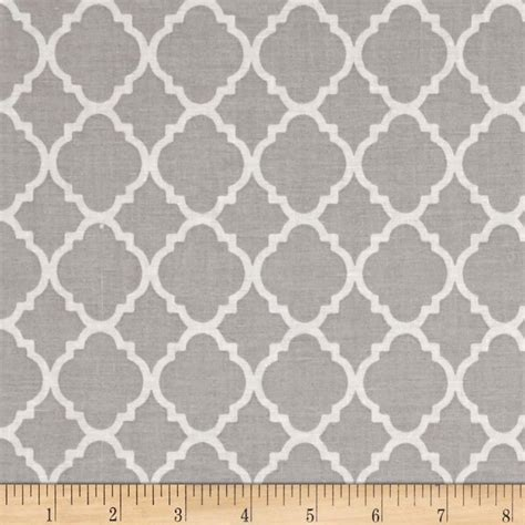 pattern gray fabric quatrefoil grey white discount designer fabric fabric com