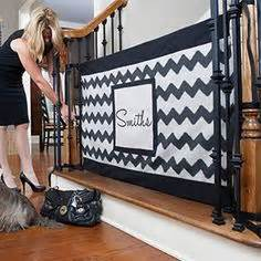 baby gates for bottom of stairs with banister how to make your own diy fabric baby gate for your home stair gate