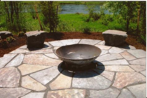 Paver Patios With Fire Pit by Off Season Landscape Renovations