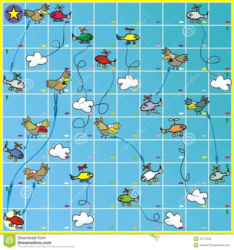 printable dice games boards board game birds and planes stock photo image 31775340