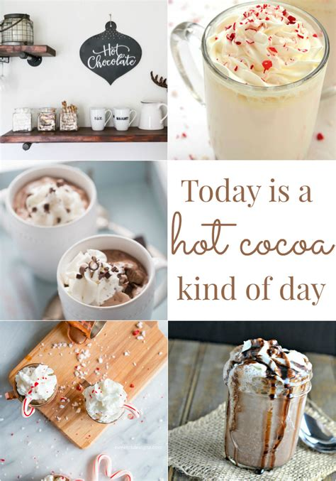 cocoa day hot chocolate recipes link party 133