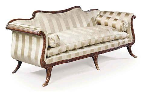regency style sofa an english grained mahogany sofa of regency style late
