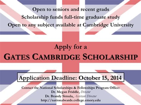 Cambridge Business School Mba Deadline by Gates Cambridge Scholarship