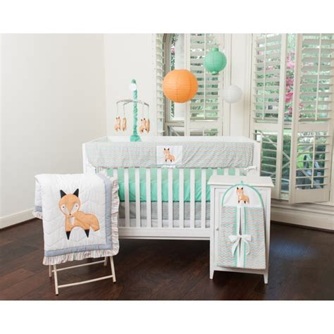 Fox Crib Bedding Pam Grace Creations Friendly Fox Baby Bedding Collection Baby Bedding And Accessories