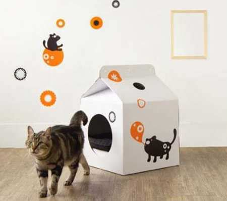 pet house design pet house from moissue combines versatile milk box design with weightless cardboard