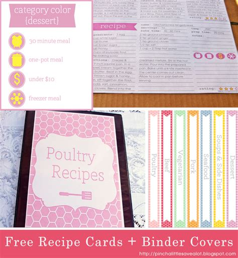 recipe binder templates 8 best images of family recipe binder free printables