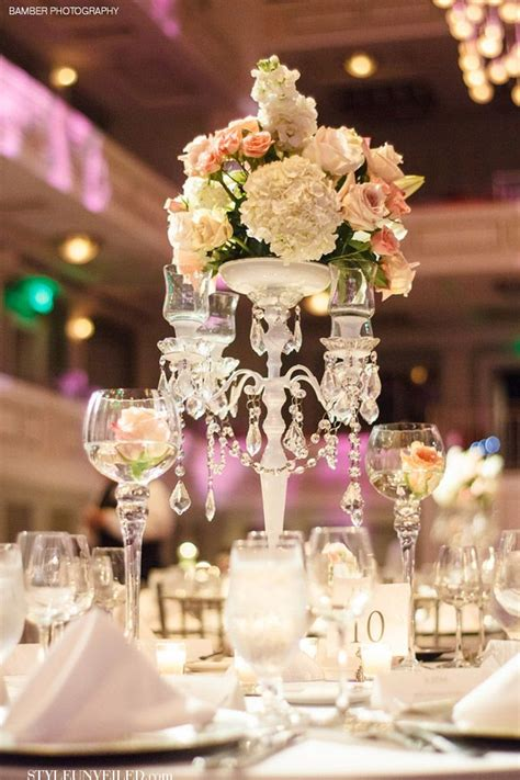 beautiful table centerpieces elegant wedding table with white and pink flowers and