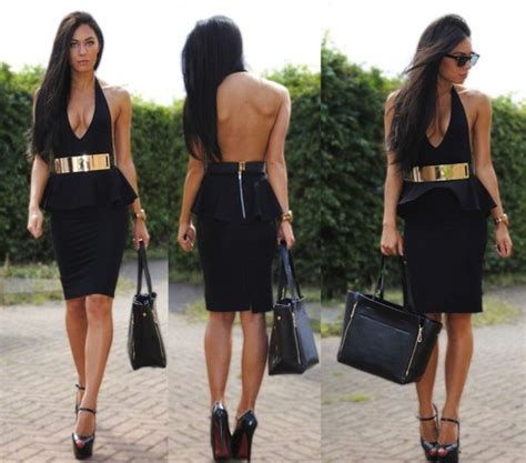 dress golden belt black dress open back sweet 16