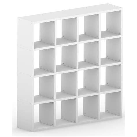 Modular 16 Cube White 1452l X 1452h X 328d Mastershelf 16 Cube Bookcase White
