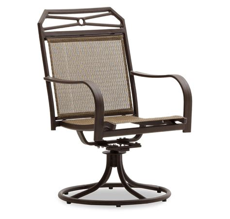 patio swivel chair strathwood rawley swivel rocker dining arm chair set of 2