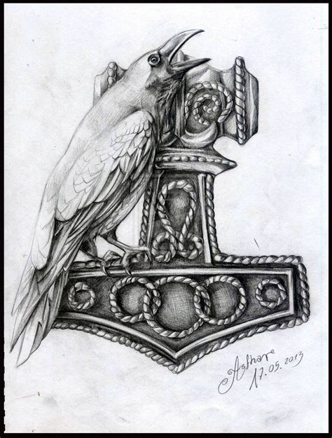 thor s hammer tattoo designs the gallery for gt hammer of thor designs