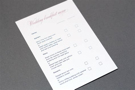 wedding rsvp menu choice template wedding guest information cards what to include foil