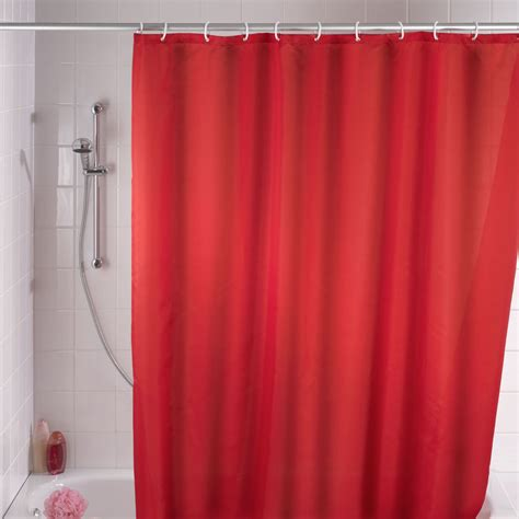 curtain mould wenko anti mould shower curtain in red next day delivery