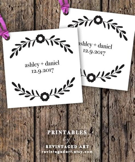 printable wedding favor tag template editable gift tags