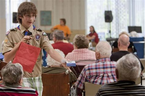 Retirement Home Volunteer Mundelein Boy Scout Stages Show At Winchester House As