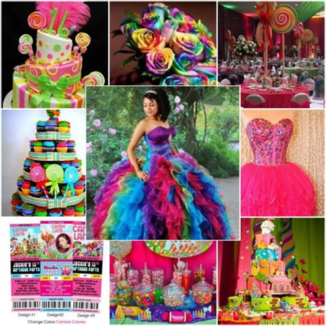 quinceanera themes for summer candy land