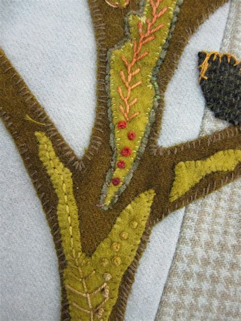 trees felt applique and the o jays on sue spargo felt embroidery what is added to the tree