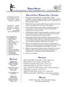 Chef Resume Exle by Chef Resume Ilivearticles Info